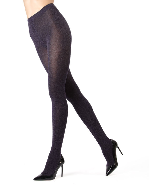 Memoi Navy Shiny Sweater Tights | Women's Hosiery - Pantyhose - Nylons