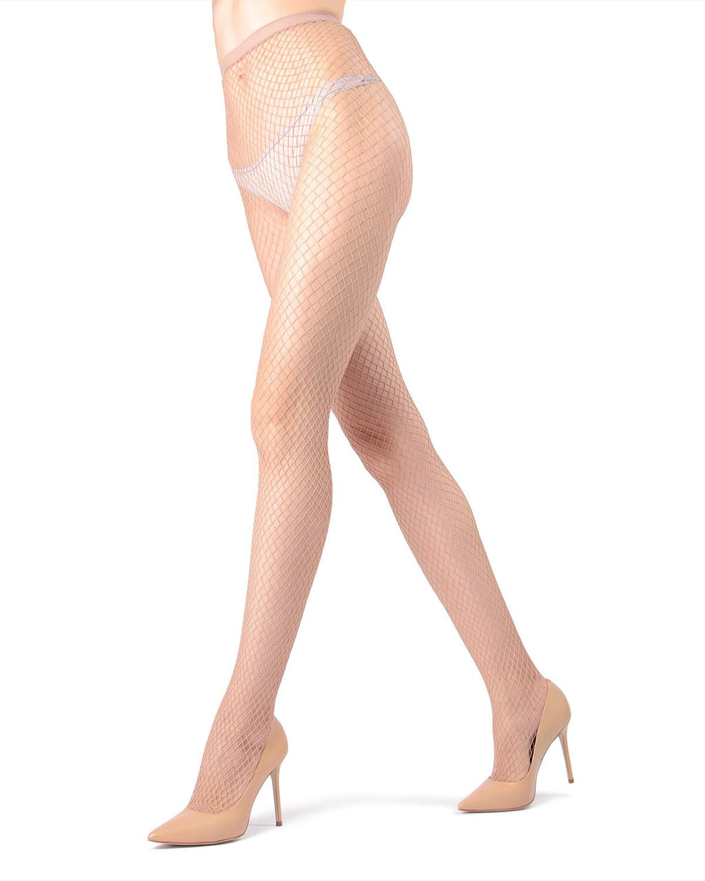 MeMoi | Nude Diamond Lurex Net Tights | Women's Tights