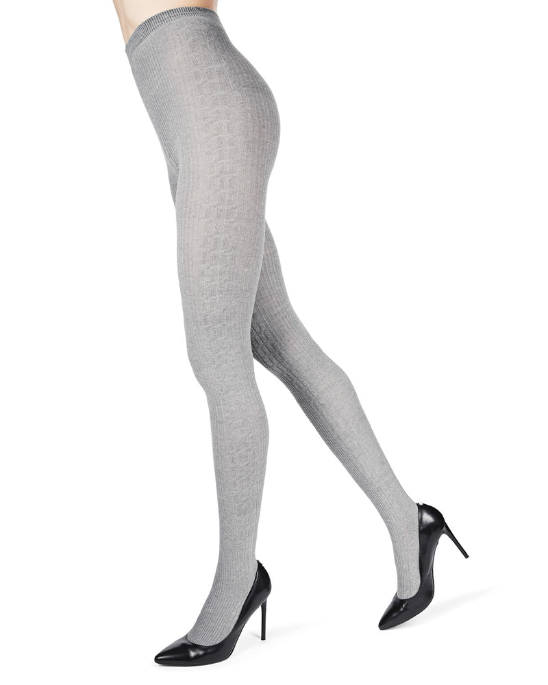 Portland Side Cable Sweater Tights