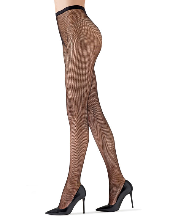 MeMoi | Basic Black Fishnets Tights | Women's Tights - Pantyhose - Hosiery - Nylons