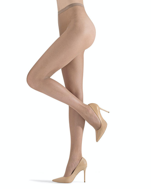 MeMoi | Basic Nude Fishnets Tights | Women's Tights - Pantyhose - Hosiery - Nylons