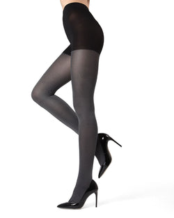 MeMoi Black Denim Tights | Women's Hosiery - Pantyhose - Nylons