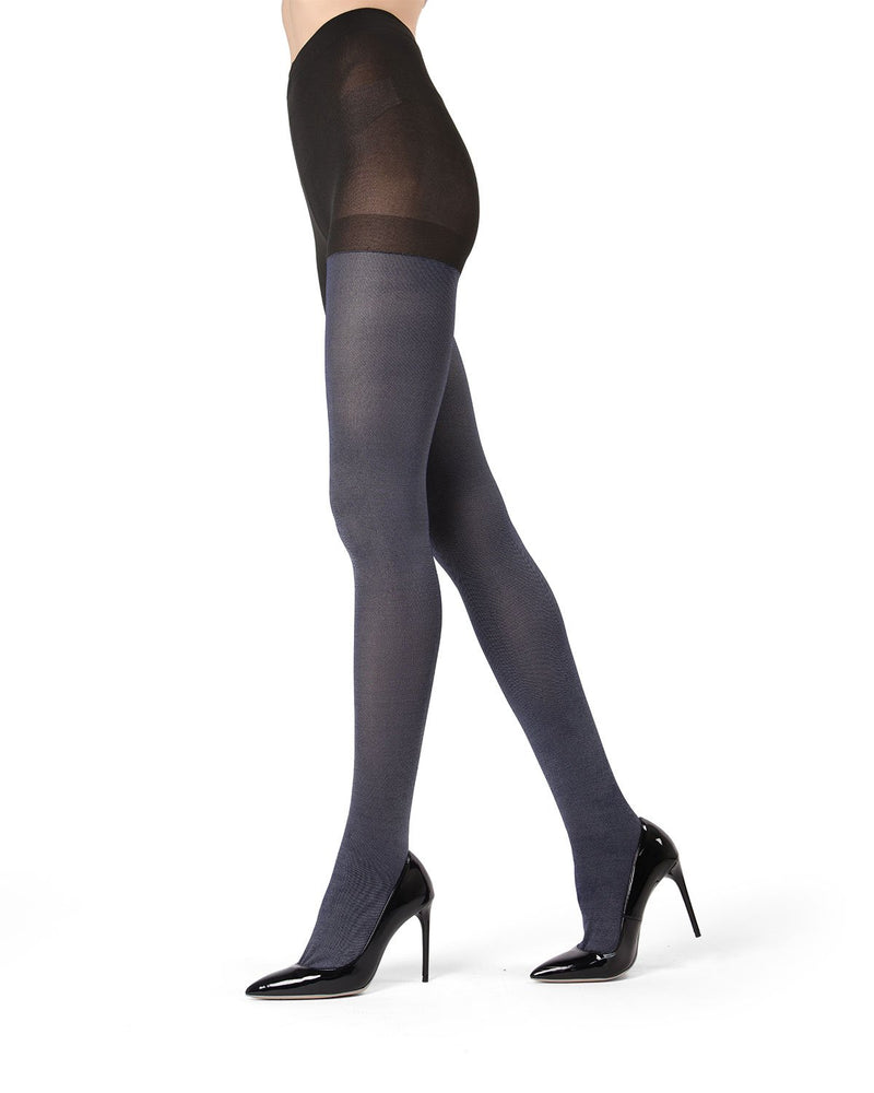 MeMoi Navy Denim Tights | Women's Hosiery - Pantyhose - Nylons
