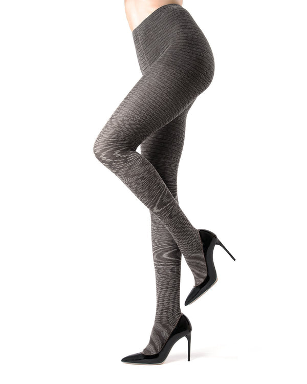 Memoi black Wild Side Cotton Sweater Tights | Women's Hosiery - Pantyhose - Nylons