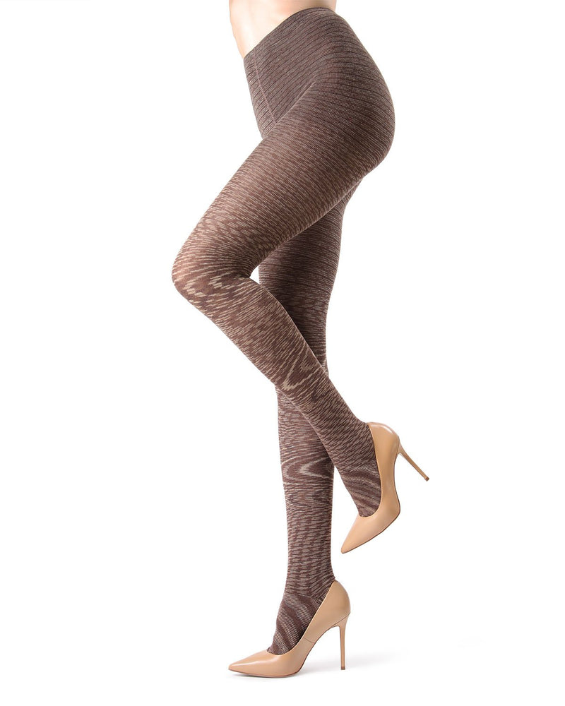 MeMoi Wild Side Cotton Sweater Tights | Women's Luxury Wool Sweater tights | Hosiery - Pantyhose - Nylons  | Coffee Bean MO-383