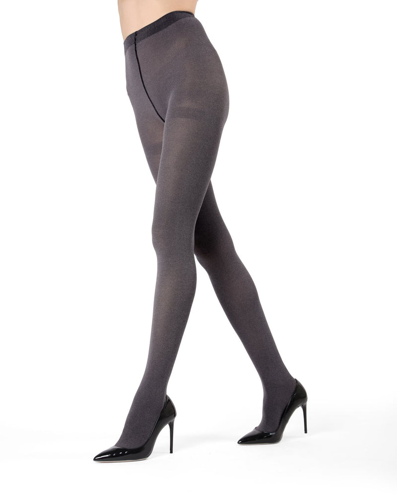MeMoi Navy Heather Flat Knit Tights | Women's Hosiery - Pantyhose - Nylons