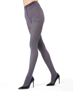 MeMoi Black Heather Heather Flat Knit Tights | Women's Hosiery - Pantyhose - Nylons