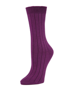 MeMoi Essential Ribbed Crew Socks