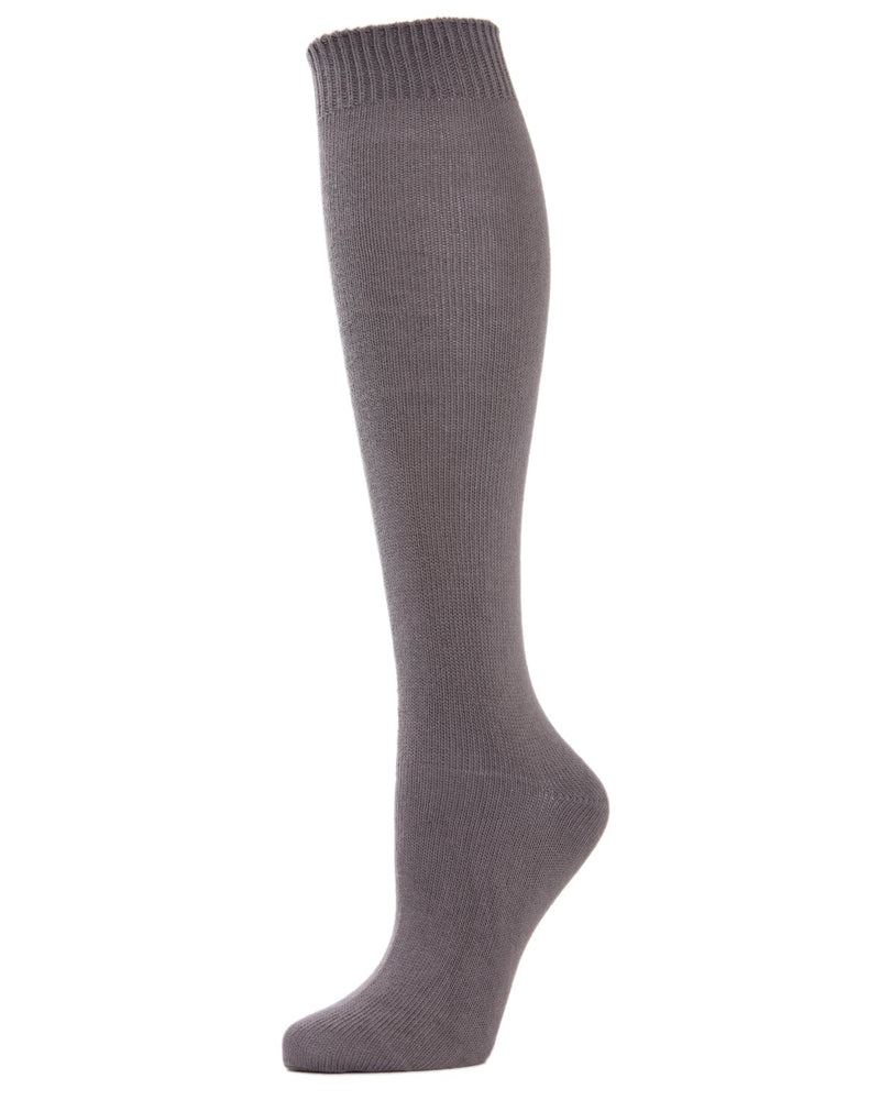 MeMoi Solid Knit Knee High Socks | Women Knee High Fall / Winter Socks -MO-720 Pavement-
