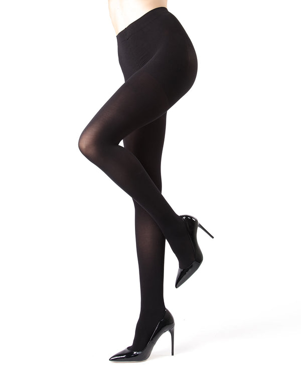 Memoi Black FirmFit Warm Control Top Tights | Women's Hosiery - Pantyhose - Nylons