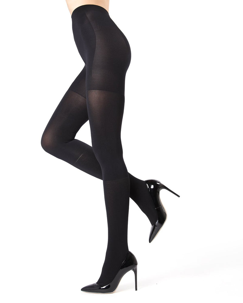 MeMoi Black FirmFit Boot Control Top Tights Size Chart | Women's Tights - Hosiery - Pantyhose