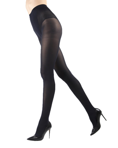 Model Top Women's Control Top Opaque Tights | Shaping Tights by Levante | MODEL TOP 70 | Nero