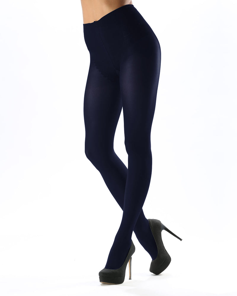 Model Top Women's Control Top Opaque Tights | Shaping Tights by Levante | MODEL TOP 70 | Blumarine