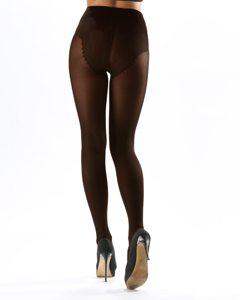 Model Top Women's Control Top Opaque Tights | Shaping Tights by Levante | MODEL TOP 70 | Moka 1
