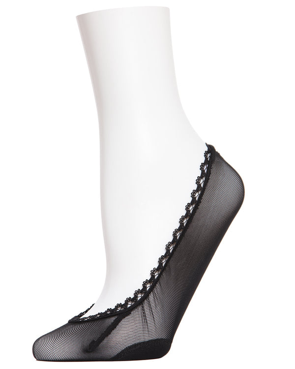 Mesh Liner Socks | Women's No Show Socks by MeMoi | Women's Clothes - Black MP-001