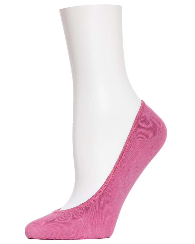 MeMoi Smooth Cotton Shoes Liners | Women's no-show Shoe Liner Socks | womens clothing | magenta Haze MP-003