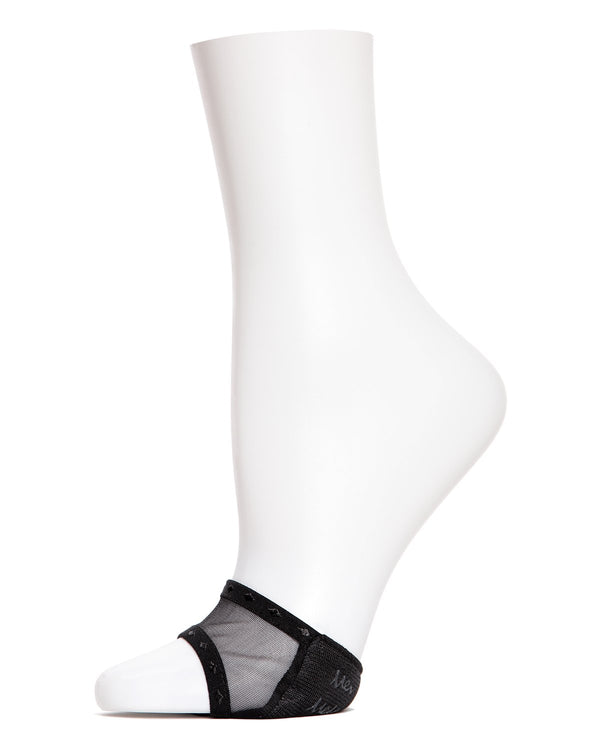 MeMoi Sheer Open Toe Cover | Women's Socks and Toe Covers | Black MP-005