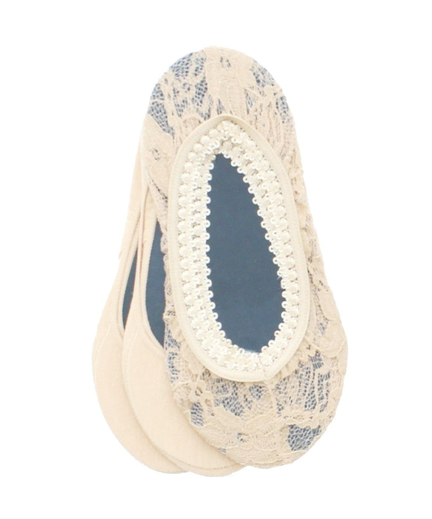 Lace Cotton Shoe Liners (3 Pair Special) - MeMoi - 1