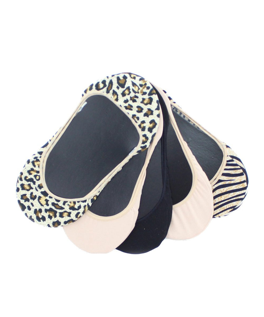 Animal Print Shoe Liners 5 Pair Pack - MeMoi
