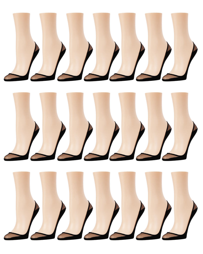 Sheer Top Cotton Sole Liner 21 Pr Pack