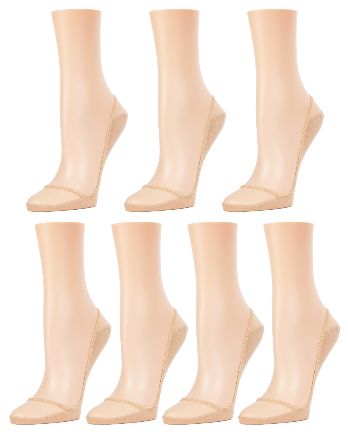 Sheer Top Cotton Sole Liner 7 Pair Pack