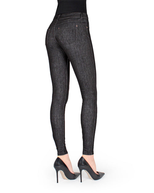 Zipper Denim Real Pockets Leggings