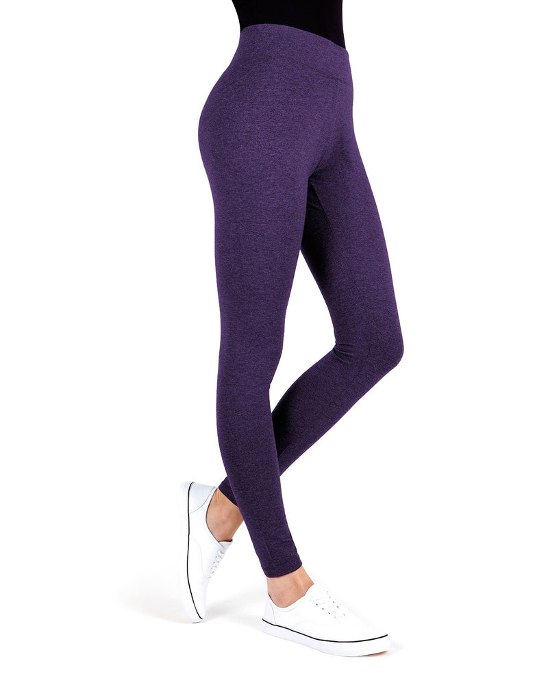 MeMoi Blackberry Cordial Cotton-Blend Yoga Pants | Women's Premium Women's Sports Leggings