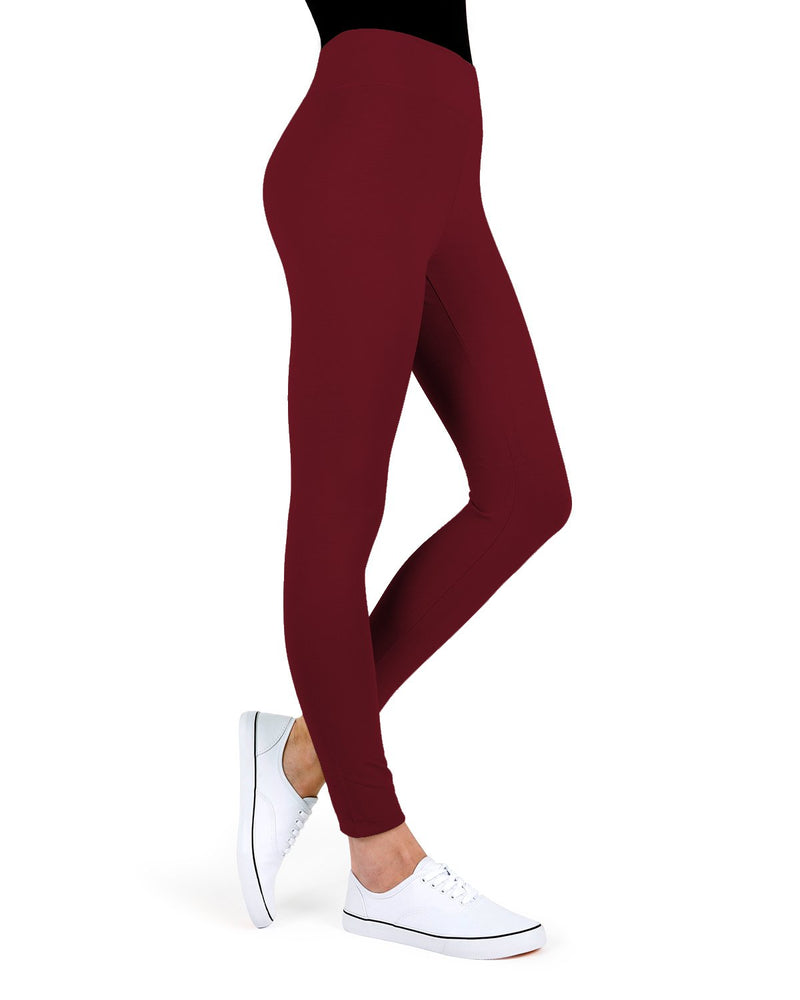 MeMoi Cabernet Cotton-Blend Yoga Pants | Women's Premium Women's Sports Leggings