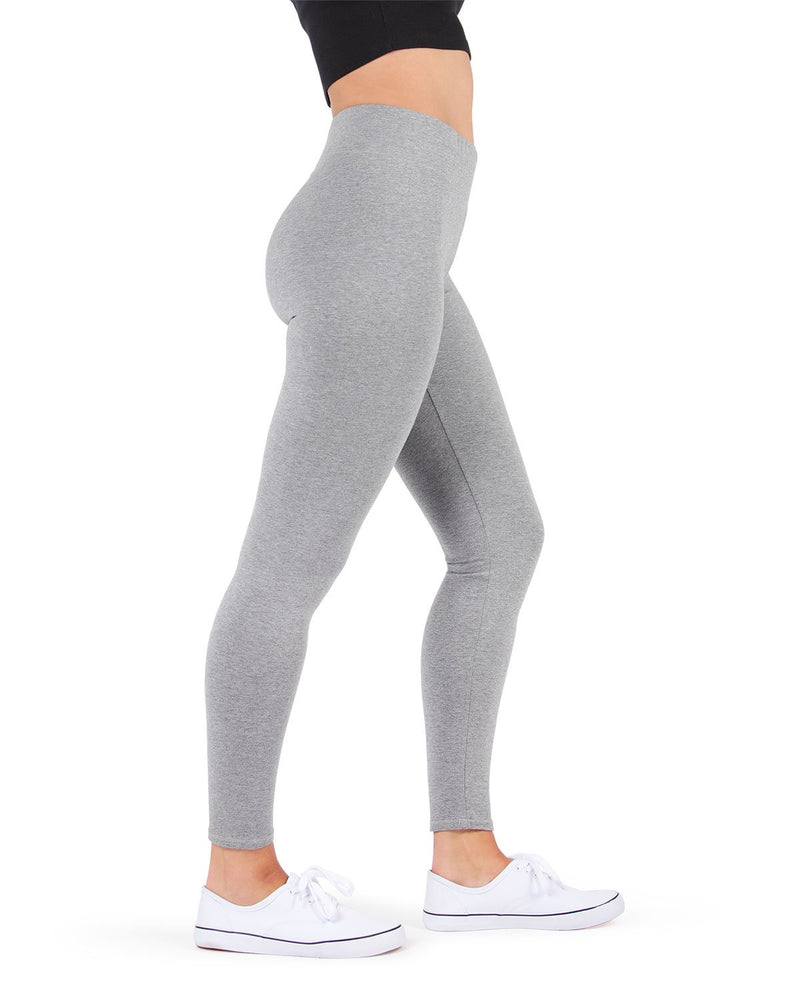 MeMoi Med Gray Heather Cotton-Blend Yoga Pants | Women's Premium Women's Sports Leggings