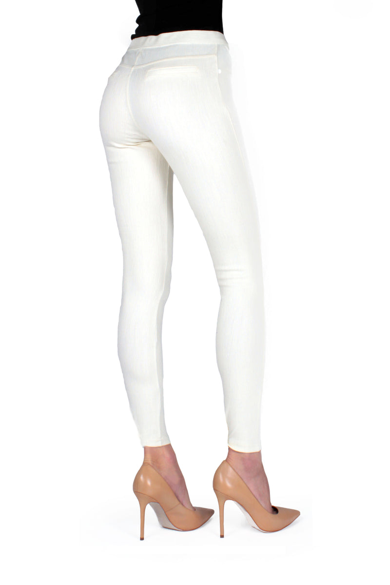 Memoi Ivory Lisse Chino Leggings | Women's Pants - Premium Leggings