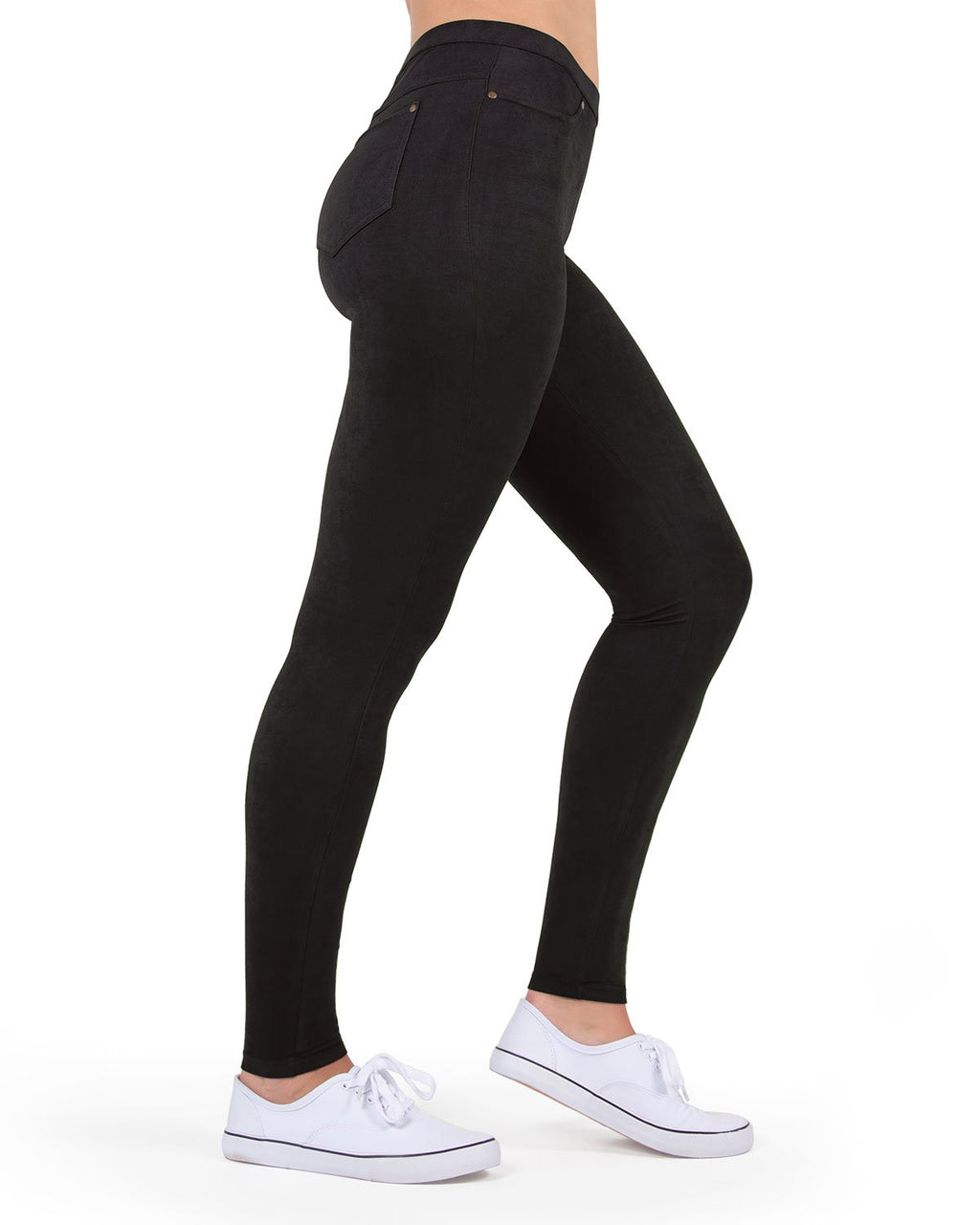 MeMoi Black Microsuede Legging | Women's Premium Fashion Leggings