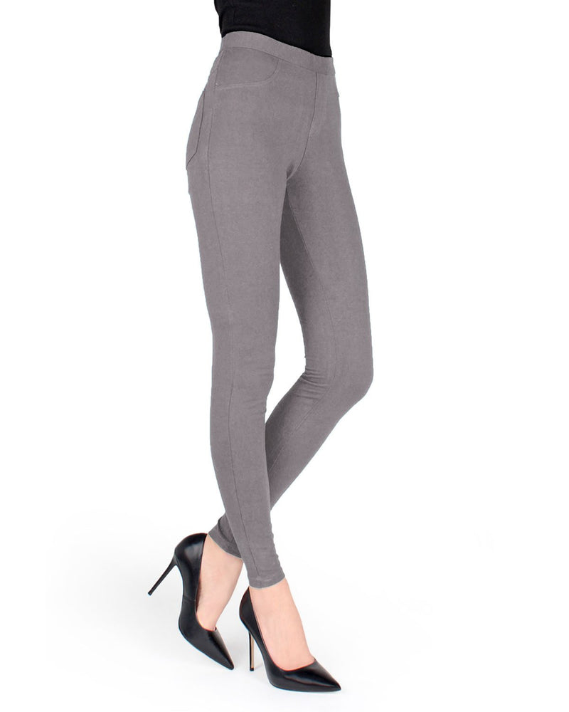 Memoi Ash Miro Cotton Blend Leggings | Women's Premium Fashion Leggings | Womens Clothing
