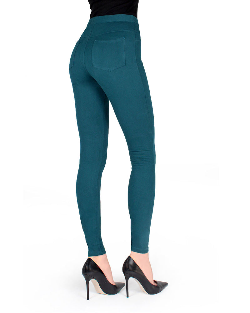 Memoi Reflecting Pond Miro Cotton Blend Leggings | Women's Premium Fashion Leggings | Womens Clothing
