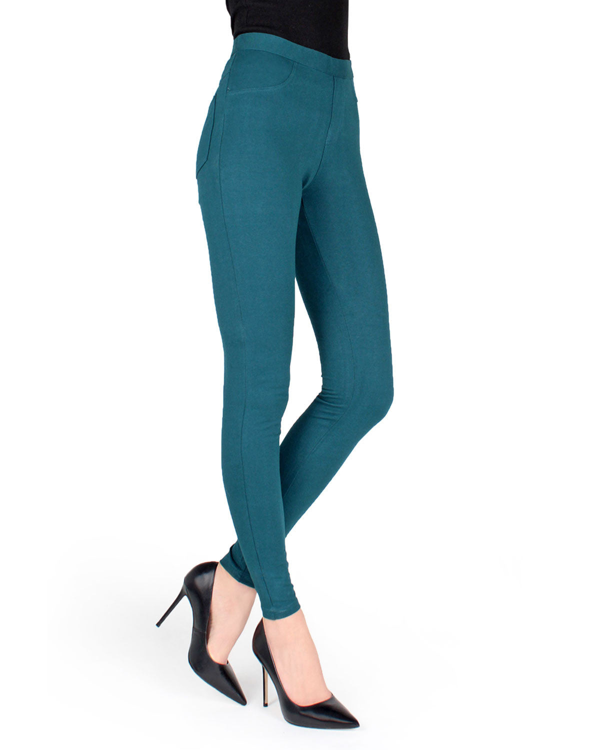 Soft Chic Leggings With Real Back Pockets Multi Colors
