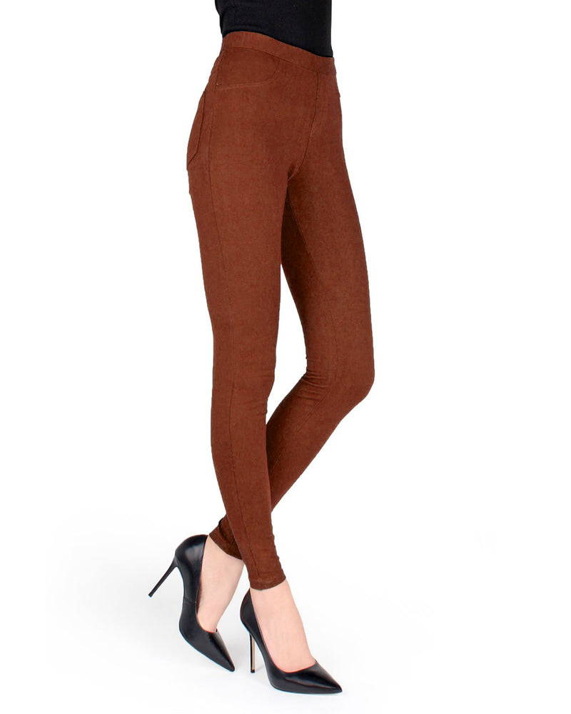 Memoi Arabian Spice Miro Cotton Blend Leggings | Women's Premium Fashion Leggings | Womens Clothing