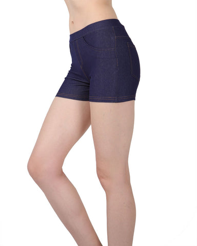 Retaco Denim Legging Short Shorts