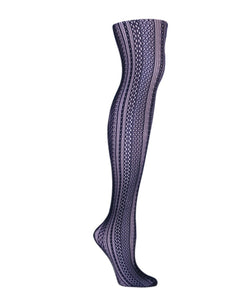 Optic Spiral Net Tights - MeMoi - 1