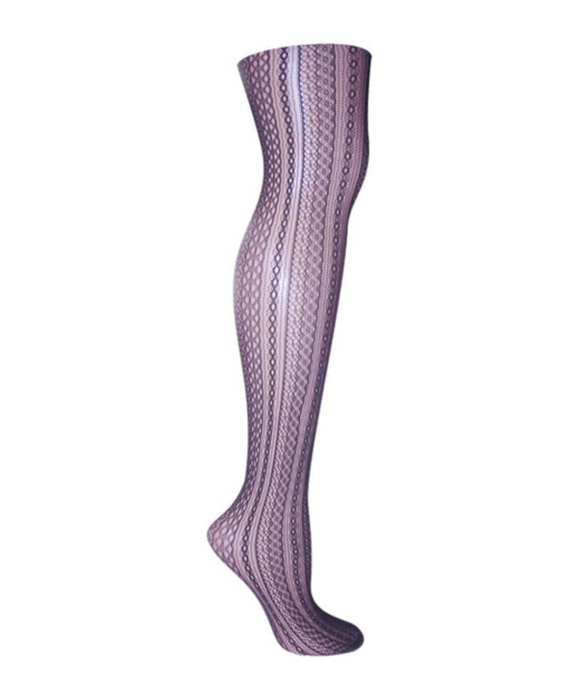 Optic Spiral Net Tights - MeMoi - 3