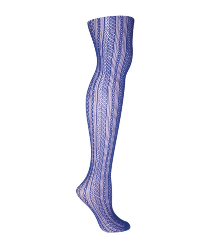 Optic Spiral Net Tights - MeMoi - 2