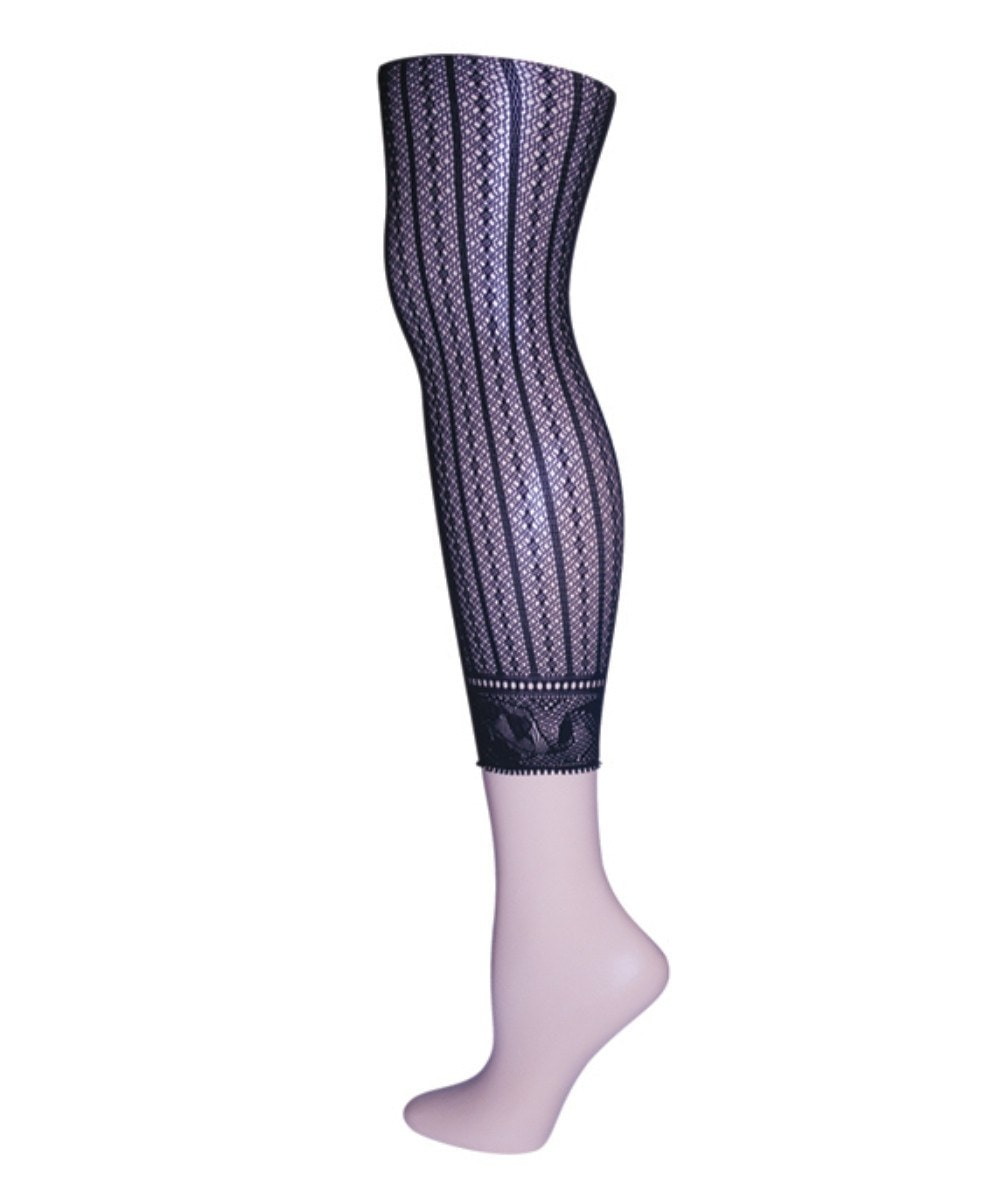 Moonlight Blue Linear Footless Net - MeMoi - 1