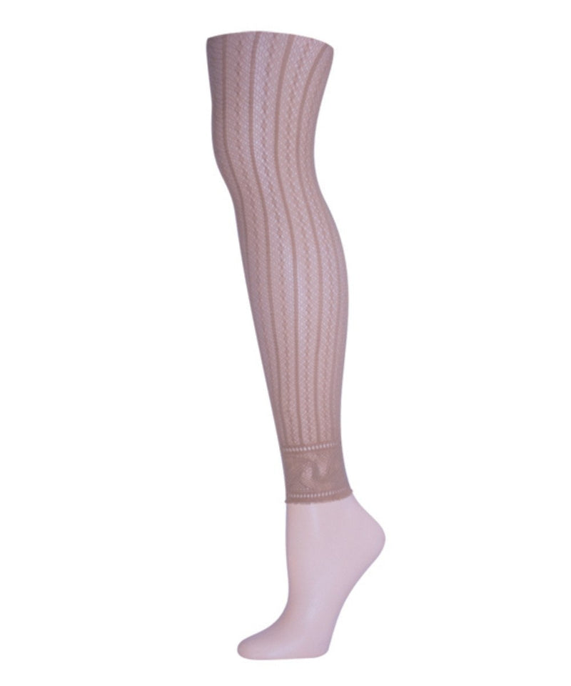 Moonlight Blue Linear Footless Net Tight | Tights for Women by MeMoi | Nude MS1-200