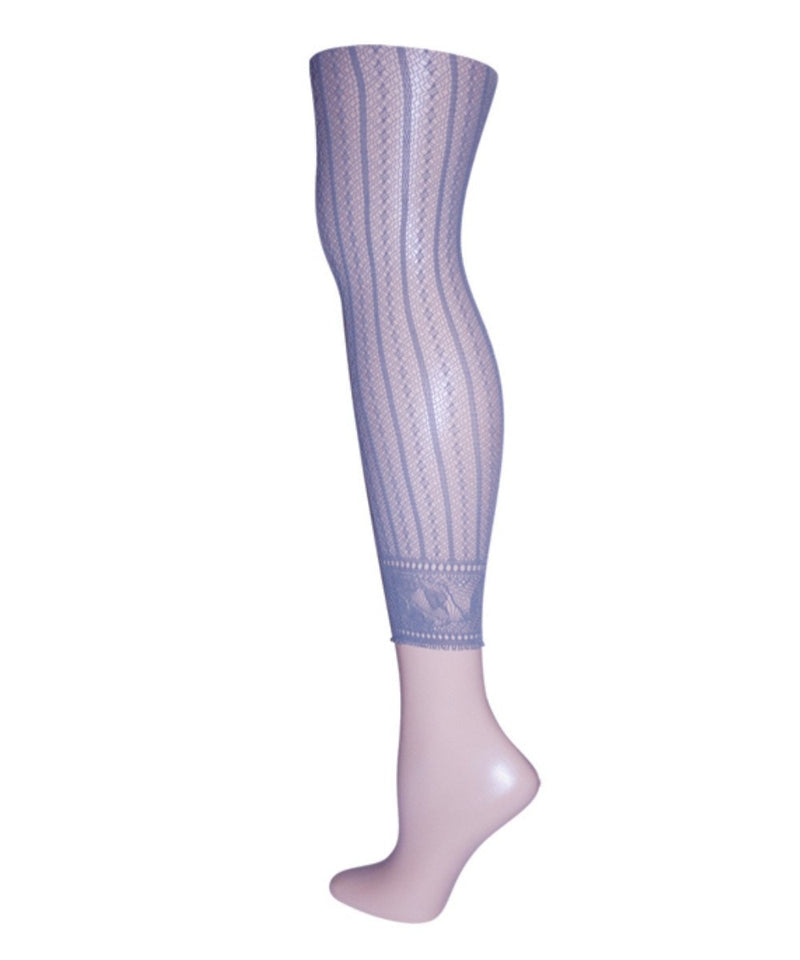 Moonlight Blue Linear Footless Net Tight | Tights for Women by MeMoi | Summer Clouds MS1-200