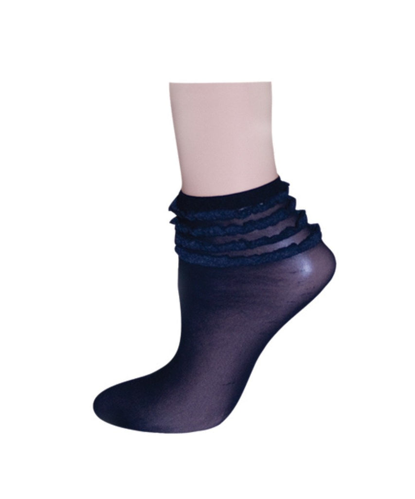 Ruffelina Thunder Women's Ankle Socks - MeMoi - 1