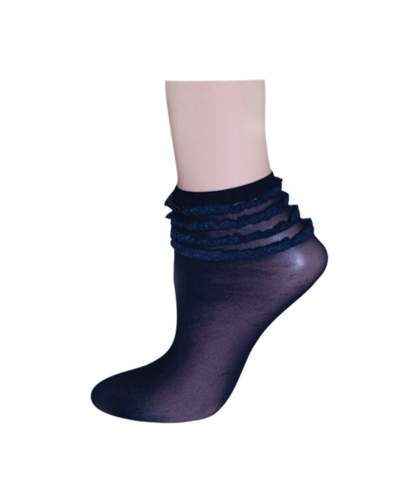 Ruffelina Thunder Womens Ankle Socks - MeMoi - 1
