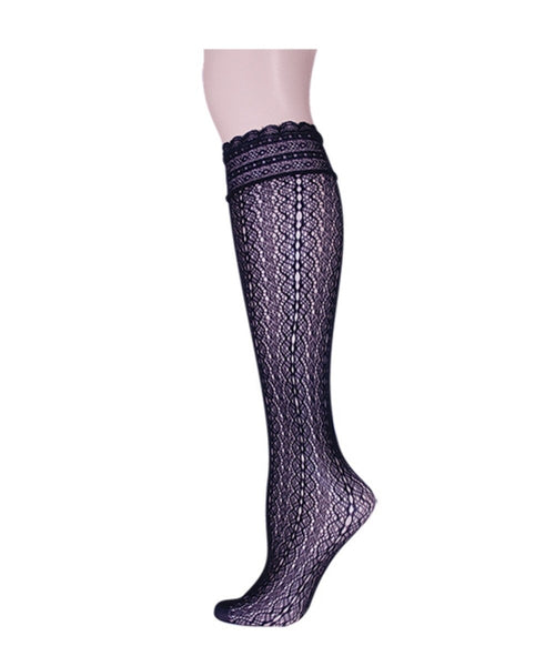 Ornate Net Knee High - MeMoi - 1
