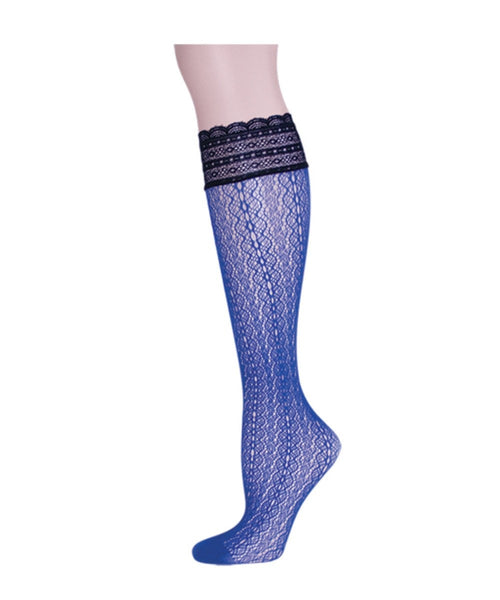 Ornate Net Knee High - MeMoi - 2
