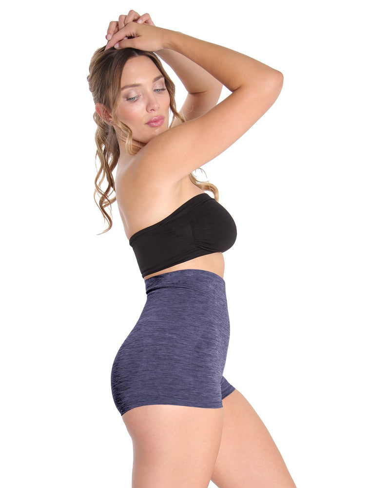High Waisted Shaping Boyshorts w/ Tummy Control | SlimMe Shapewear by MeMoi® | MSM-105