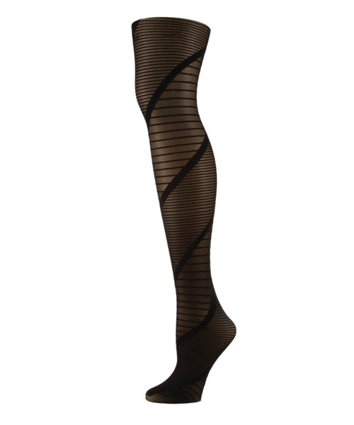 Spiral Sheer Tights - MeMoi