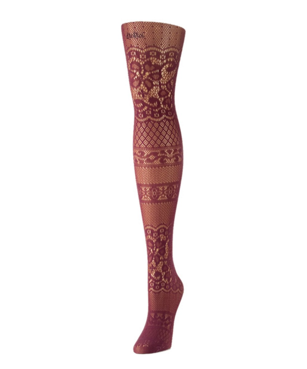 Floral Patch Net Tights - MeMoi - 5