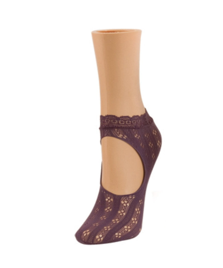 Floral Net Loafer Socks - MeMoi - 5